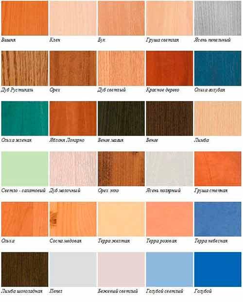 Цветовая гамма мебели